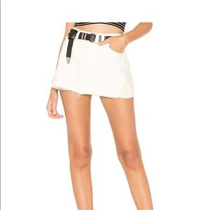 Free People Patch Pocket Denim Mini Skirt Size 27